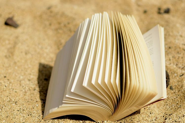 book Blank Book Close-up Day Education Focus On Foreground Hardcover Book High Angle View Indoors  Land Literature Nature Publication Sand Sunlight White Color