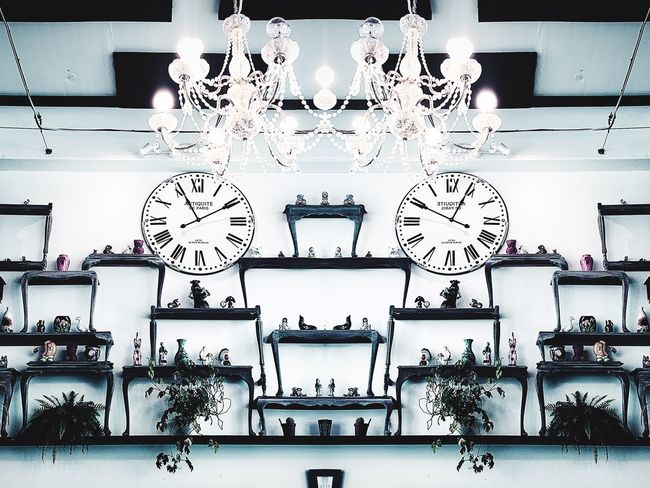 Wall decoration Wall Indoors  Wall - Building Feature Large Group Of Objects No People Store Business Retail  Arrangement Collection Clock Choice Lighting Equipment Variation Abundance Time Side By Side Sale For Sale Ceiling