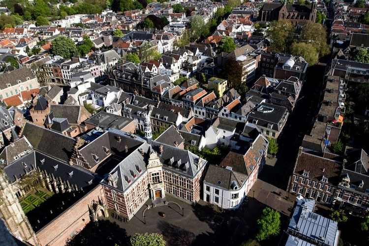 Architecture Building Exterior Built Structure High Angle View Residential District Building Outdoors Nature Tree House No People Cityscape Day Settlement Town Roof City Life City TOWNSCAPE Holland Netherlands Travel