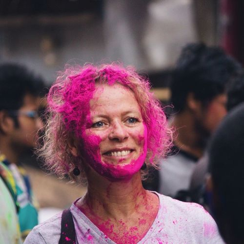 Happy Colourful face Holi Festival Of Colors Holi2016 Colours Colorful Streetphotography Street Photography Color Riot Chennai Sowcarpet The Street Photographer - 2016 EyeEm Awards Everyday Emotion