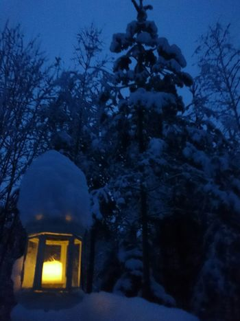 Winter Finland Snow Day First_snow Snow ❄ Snow Lantern Candle Candlelight Evening Light