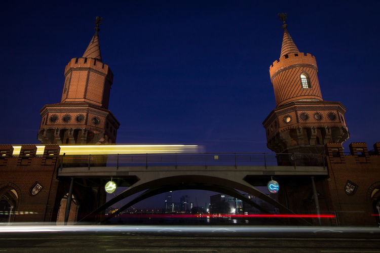 Low angle view of elevated bridge in berlin