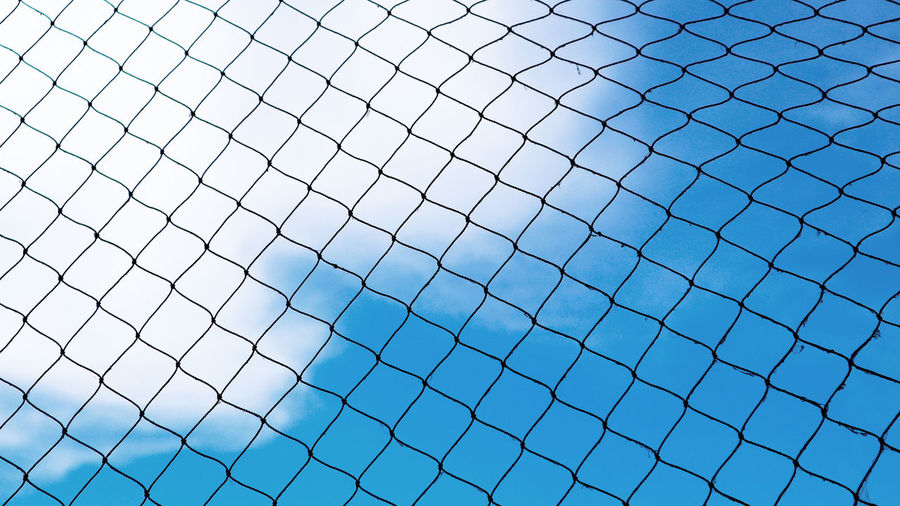 Net and sky Mesh Square Backgrounds Blue Net Sky White Background