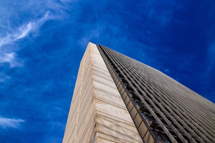tall bulding towords blue sky Architecture Blue Building Built Structure Buisness Bulding Cloud - Sky Day Low Angle View Modern Nature No People Outdoors Sky Tower Colour Your Horizn