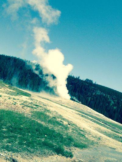 Yellowstonenationalpark Old Faithful Yellow Stone