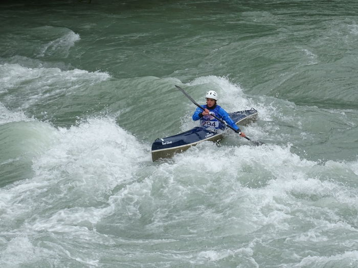 Motion Water Adventure One Person Nautical Vessel Speed Sport Sea Transportation Aquatic Sport Kayak Leisure Activity Day Extreme Sports Sign Wave Adult Challenge Outdoors