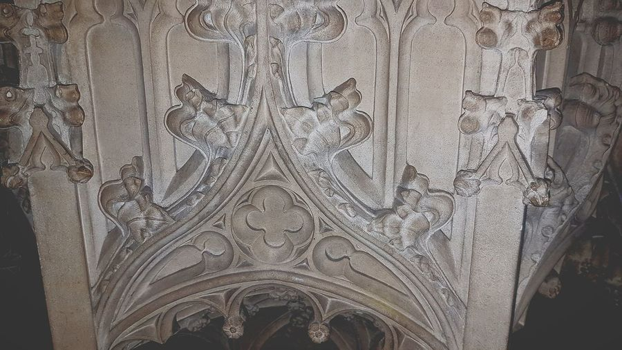 Full Frame Indoors  No People Close-up History Backgrounds Architecture St Martin's Church Font Stonework