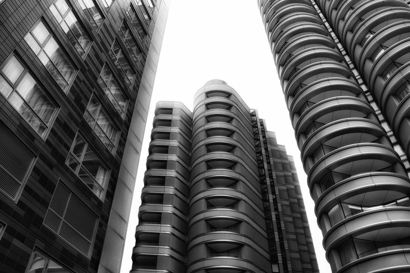 Architectural rise. Design Architecture Black And White Photography Blackandwhite Building Exterior Low Angle View Architecture Built Structure Sky Building No People City Tall - High Office Building Exterior Tower Outdoors Development Apartment Modern