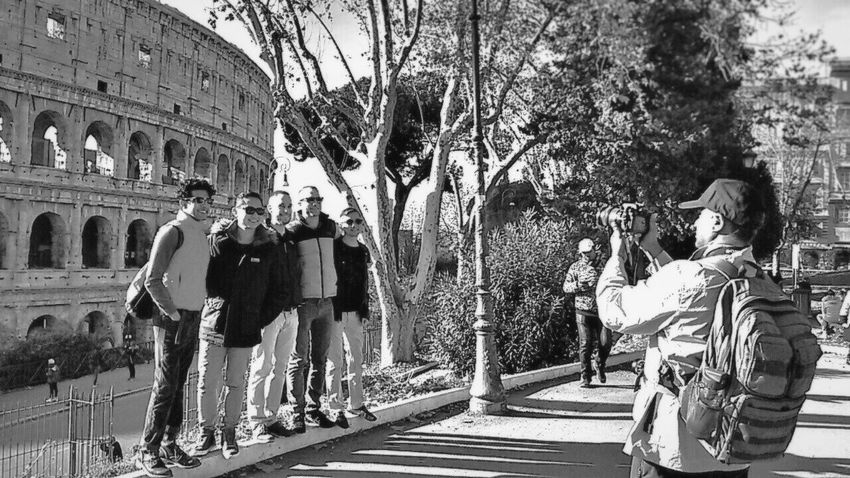The photographer Happyness Inner Power Rome Italy Enjoy The New Normal Real People Embrace Urban Life Learn & Shoot: Simplicity Streetphotography_bw Tourism City Shadow And Light People On The Street Getting Out And Living Site_historique Smile With Your Heart Mood Capture Your Ticket To Europe Love Yourself Stories From The City Adventures In The City