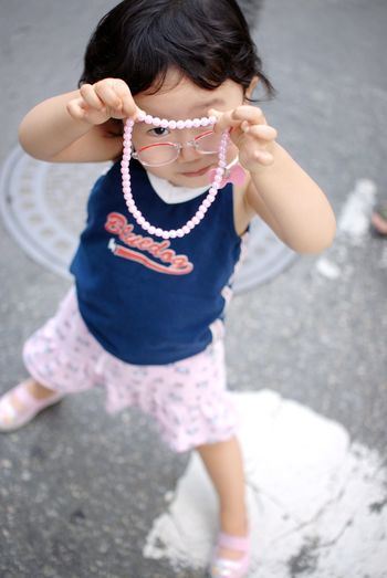 Childhood One Person Cute Casual Clothing Girls Standing Daughter Necklace
