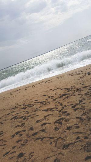 Beach Sand Sea Wave Sun Landscape Nature
