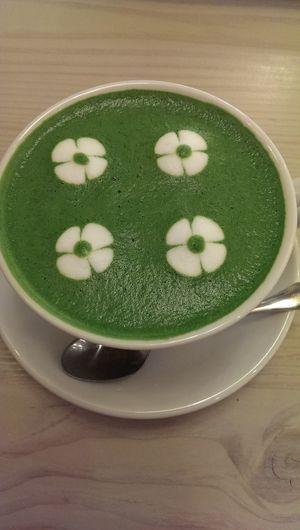 Cute art on Macha milk
