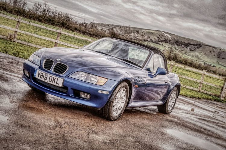 Z3 with a view of the white horse... Bmw Z3 Motoring Convertible Classic Car Roadster Artistic HDR