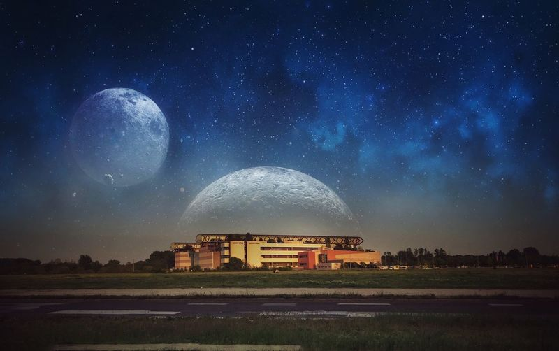 Ázsia Center egy párhuzamos világban!😁 iPhone 7 Plus,BrainFeverMedia Star - Space Night Astronomy Sky Space Architecture Galaxy Nature No People Outdoors City Planet - Space Milky Way Science Building Building Exterior Built Structure Scenics - Nature