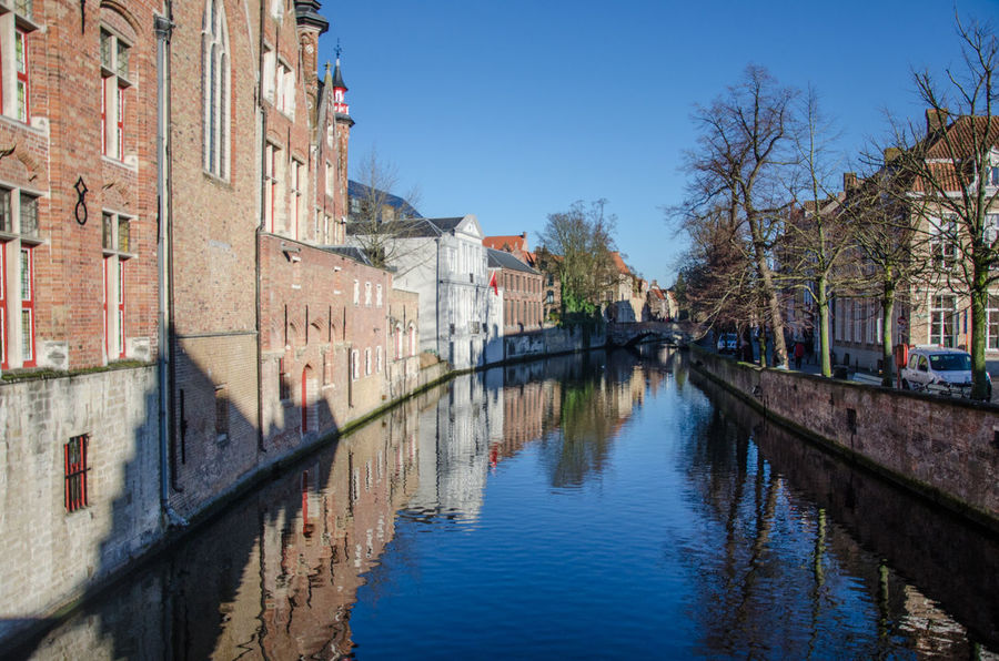 Lost in Brugge Architecture Brugge Built Structure Canal Day No People Reflection Town Water Waterfront