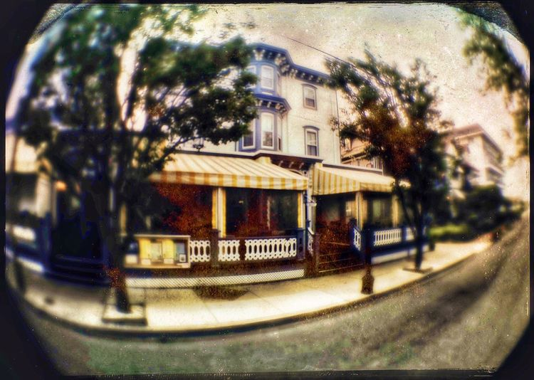 """Carroll Villa Wide Angle Dawn 1 Carrollvillahotel Cape May NJ First Eyeem Photo Capemay Jersey Shore Victorian Architecture Historical Building Mad Batter Bar And Restaurant Wide Angle Lens"