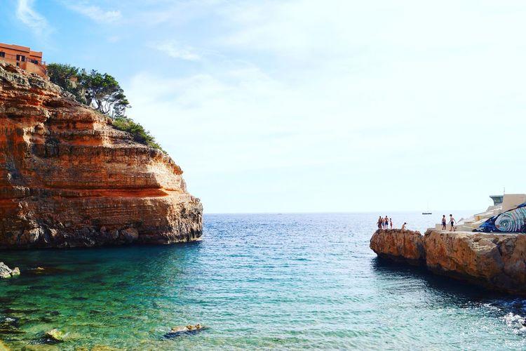 Port Adriano Portadriano Majorca Mallorca Sea Seaside Cliff Water Waterfront Bluewater