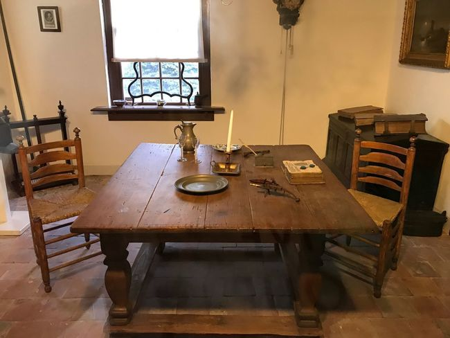 Indoors  History Table Chair Wood - Material Weapon