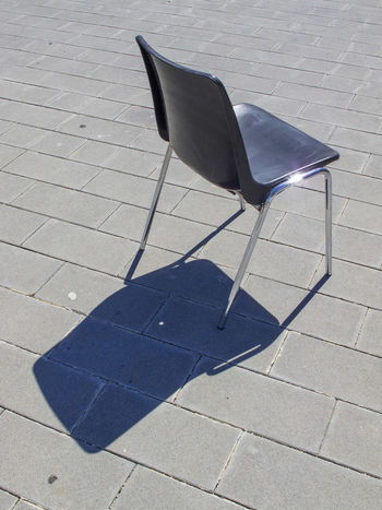 Lonely chair near Spoleto (Italy) Backlight Blue Color Chair Italia Sunlight Backlight And Shadows Blue Day Italy Lonely Chair No People Outdoors Plastic Plastic Material Shadow Sunlight And Shadow