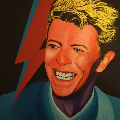 David Bowie 1983 Let's Dance. 30x30cm acrylic painting. Portrait Davidbowie Bowie Tribute Acrylic On Canvas ACRYLICART Painting Art Maidstone, Kent, UK Canvas Art Acryliconcanvasart Portraits Of EyeEm Acrylic Art Pilipa Acrylic Painting One Person Artist Popart Portraitmood Celebrity Singer And Artist Singer/Song Writer Musician Tribute