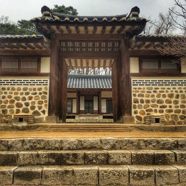 Seoul South Korea Architecture Building Exterior Built Structure Day Window Traditional Building Steps