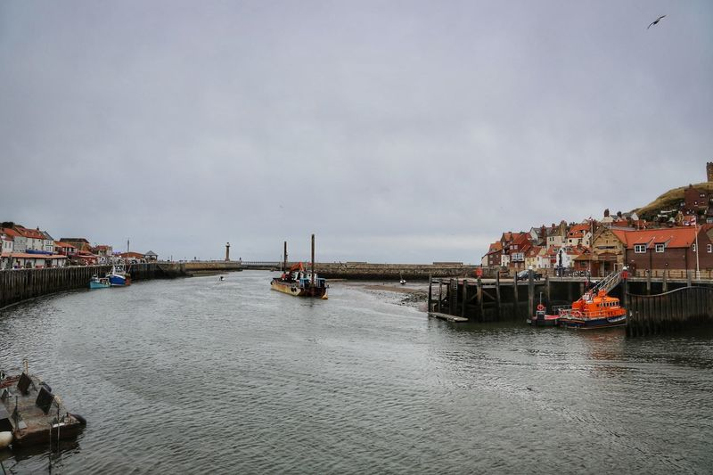 Whitby Whitby Whitby Abbey Water Nautical Vessel Transportation Sky Architecture Mode Of Transportation Waterfront Sea Built Structure Nature Day Building Exterior Cloud - Sky Freight Transportation No People Pier Scenics - Nature Ship Harbor Outdoors Passenger Craft