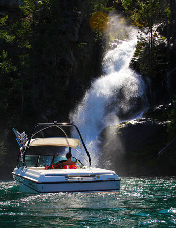 Hidden Gems on Lake Chelan at Domke Falls. Hidden Gems  The Great Outdoors - 2016 EyeEm Awards On The Way Aesthetically Pleasing Spiritual Floating On Water Waterfalls Girl Power Original Experiences Nature Independent Woman Outdoors Travel Feel The Journey Remote Location Adventures Adventure Club Paradise Exploration Waterfall Lake Chelan Boating Boat Adventure Independent  Finding New Frontiers Live For The Story Be. Ready. An Eye For Travel