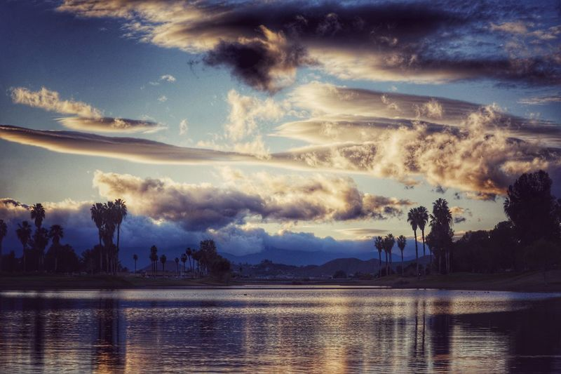 California dreamland Water Sky Tree Reflection Cloud - Sky Nature No People River Beauty In Nature Waterfront Outdoors Building Exterior Scenics Tranquil Scene Sunset City Architecture Power In Nature Day California Eye4photography  EyeEm Nature Lover EyeEm Best Shots