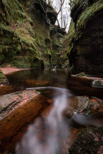 Devil's Pulpit in Schottland Scotland Fine Art Photography Fine Art Canon 10-18 Mm Canon EOS750D Wide Angle Devils Pulpit Schottland Art Traveller Newoneyeem Naturelovers Brownwater Drymen Travel Destinations Travel Photography Nature Travelling Outdoors Moss Valley Water Stream - Flowing Water Stream Flowing Water