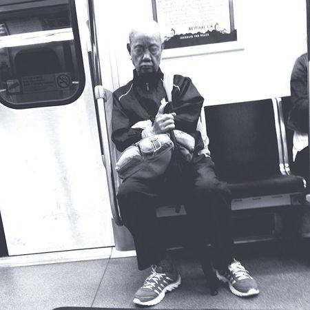 Blackandwhite Commuters Commuter Train Working Hard Stolen Hardwork