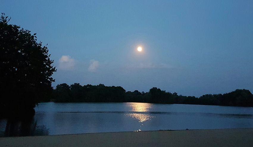 Soirée au bord du lac... Nature Sky Lac Lune Moon