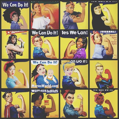 When I should have been doing work I decided to work on a fun project. I put together a collection of Rosie the Riveter from around the world. Rosie The Riveter We Can Do It Positive Message Bringing People Together A Sane Thought In A Crazy World Collage Art Message From A Stranger This Week On Eyeem Time To Reflect A Moment Of Zen...