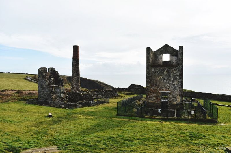 Old copper mines EyeEnNewHere The Past History Old Old Ruin Sky Grass Tombstone