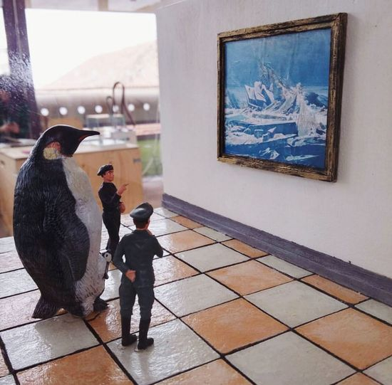 The last place on earth | The wreck of hope (Friedrich) Art Friedrich Penguin Madrid Ice