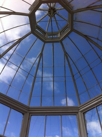 Glasshouse in Malahide Castle, Ireland. One of the most amazing places I've been to. Ireland Malahide  Glasshouse Blue Blue Sky Sky Iron Work