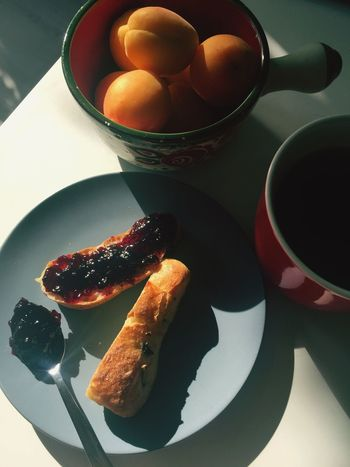 It's tea time. Tea Time! Tea Time Tea Apricot Bread And Jam