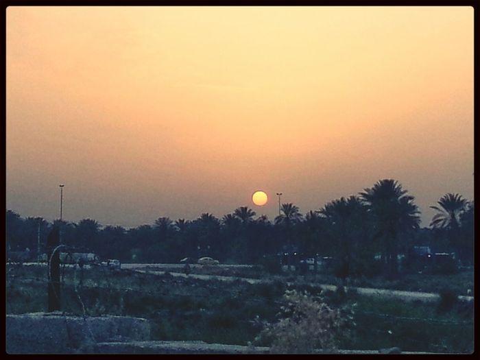 منظر الغروب من بلادي.... Sunset from my Country الغروب