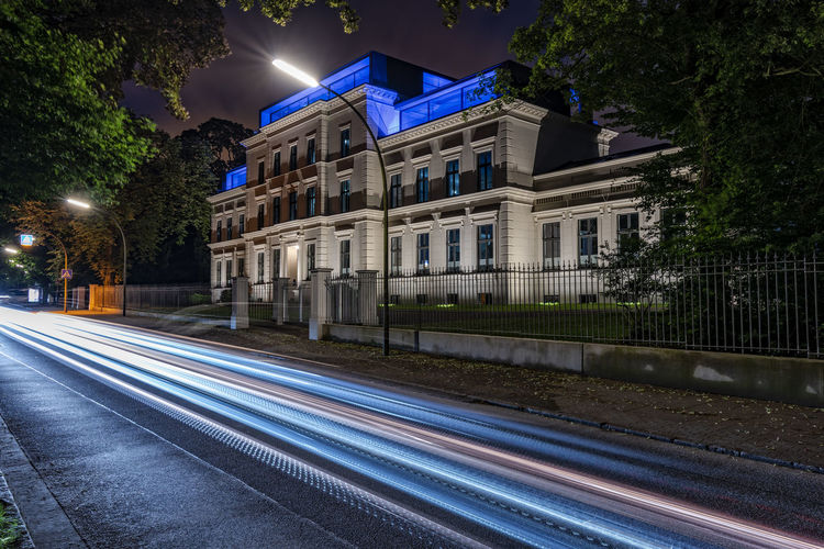 Light trail Capture Tomorrow Architecture Building Exterior Illuminated Built Structure Night City Long Exposure Light Trail Street Building Road Motion Tree Transportation No People Residential District Nature Plant Speed Blurred Motion Outdoors Light