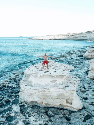 Fels Malta Nice View Drone Moments Droneshot Dronephotography DJI Mavic Pro Water Sea Sky Real People Clear Sky One Person Beauty In Nature Beach Lifestyles Scenics - Nature Land Nature Horizon Over Water Outdoors