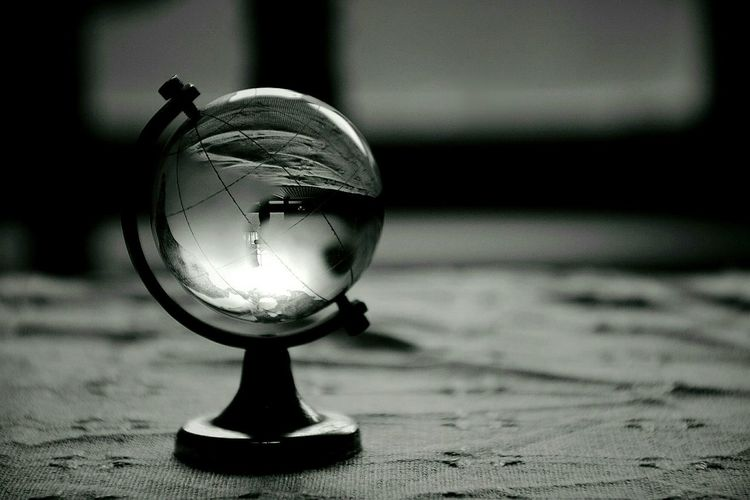 Crystal globe of earth
