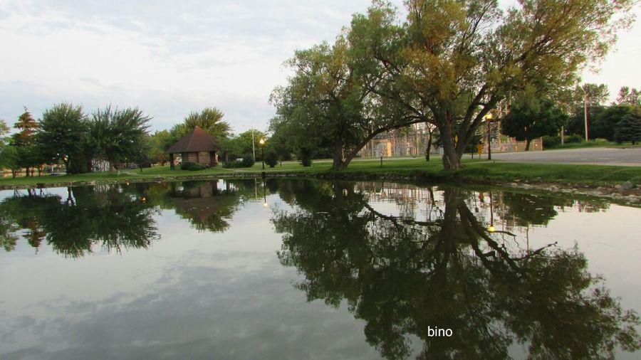 Taking A Stroll Around The Lake No People Morning Time Reflection Lake Like Glass Beautiful Nature Lake Cadillac Pure Michigan