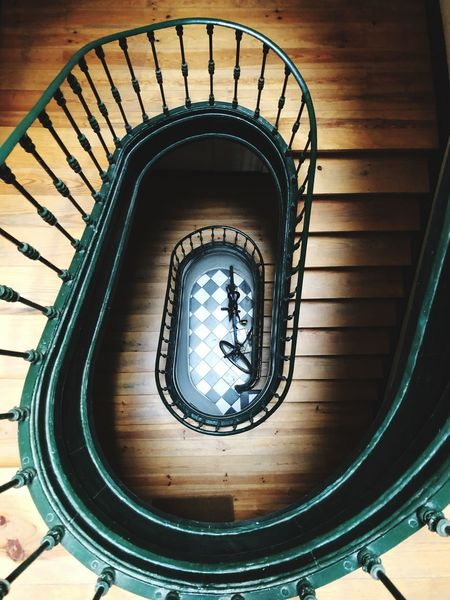 Architecture Built Structure Indoors  Spiral Railing Staircase Spiral Staircase Steps And Staircases No People Design High Angle View