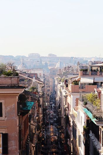 Some day in december in rome Rom Gasse Straßenfotografie Street Light Rome Building Exterior Architecture Built Structure City Sky Building Residential District Cityscape Nature Clear Sky High Angle View Day Crowd Crowded Outdoors Street Motor Vehicle Sunlight Office Building Exterior