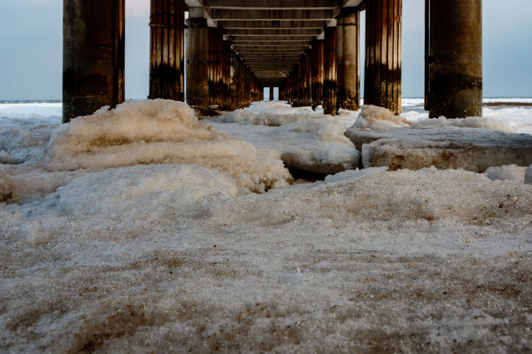 Frozen Hebei Ice Pier Seashore Winter Architecture Beach Beidaihe Built Structure China Cold Temperature Day Dock Nature No People Outdoors Qinhuangdao Sea Seascape Seaside Snow Water