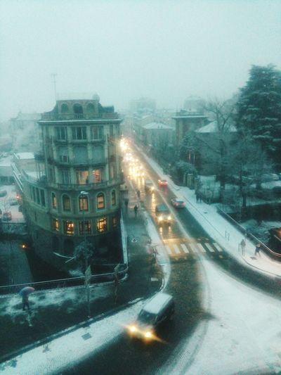Ivrea, corso Nigra e la neve. #ivrea #canavese #piemonte #myciti #città #inverno #neve