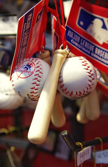 For the baseball lover. And yes, it's perfectly placed like many photos I've seen. Gotta get in on that!😀 Ornaments NY Yankees Product Placement Photography