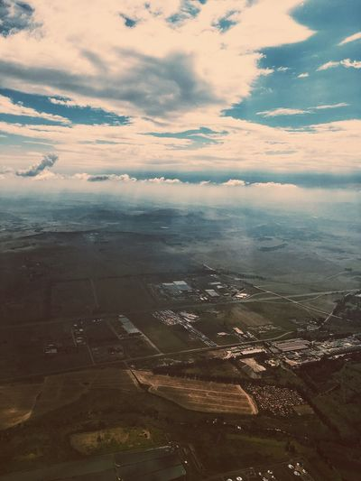 Aerial view over South Africa. Aerial View Agriculture Beauty In Nature Cloud - Sky Day Landscape Nature No People Outdoors Patchwork Landscape Rural Scene Scenics Sky Tranquil Scene Tranquility View Into Land