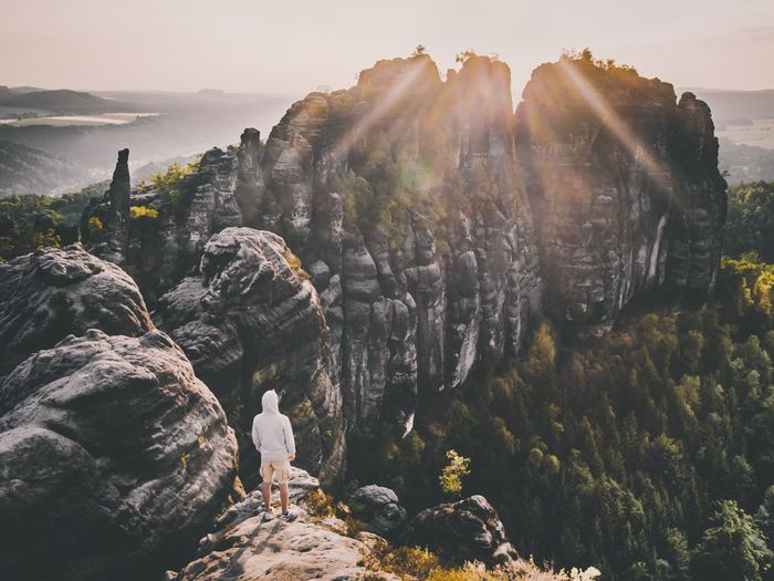 Rock - Object Rock Formation Nature Scenics Beauty In Nature Sunlight Mountain Cliff Tranquility Outdoors Landscape No People Travel Destinations Day Sky Sunset Animal Themes
