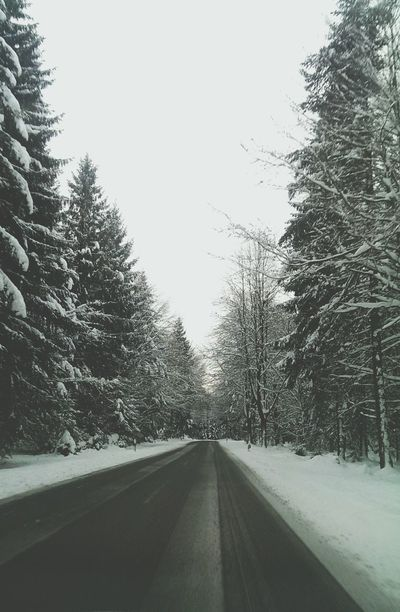 Snow road 2 Taking Photos Check This Out Cold Winter ❄⛄ Wintertime On Street