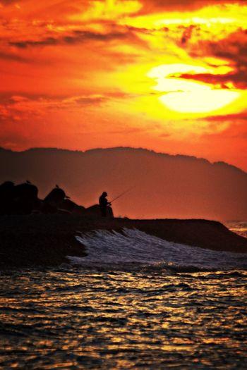 Landscape Coast Of The Setting Sun